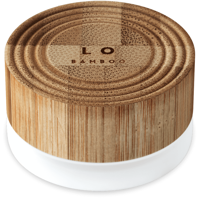 Lip care - all natural packaging made of wood - BAMBOO LO care Amsterdam